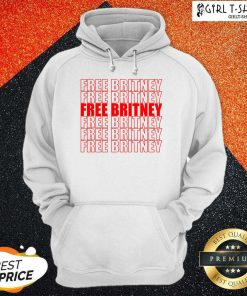 Free Britney Red Hoodie- Design By Girltshirt.com
