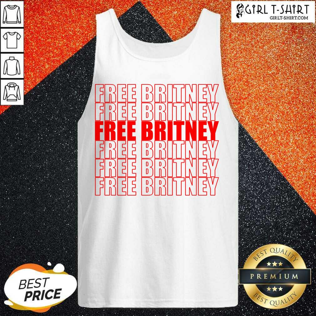 Free Britney Red Tank Top- Design By Girltshirt.com