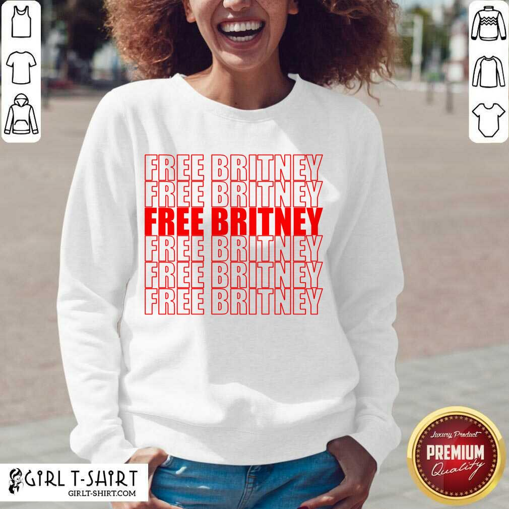 Free Britney Red Sweatshirt- Design By Girltshirt.com