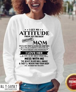I Get My Attitude From My Freakin' V-neck - Design By Girltshirt.com