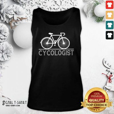 Hot The Bicycle Cycologist Tank Top- Design By Girltshirt.com