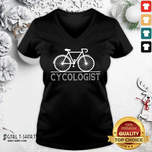 Hot The Bicycle Cycologist V-neck - Design By Girltshirt.com