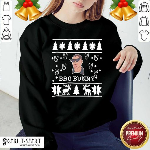 Bad Bunny Ugly Merry Christmas Sweatshirt - Design By Girltshirt.com
