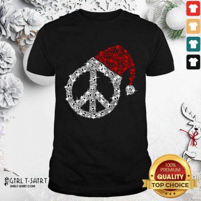 Hippie Diamond Hat Merry Christmas Shirt- Design By Girltshirt.com