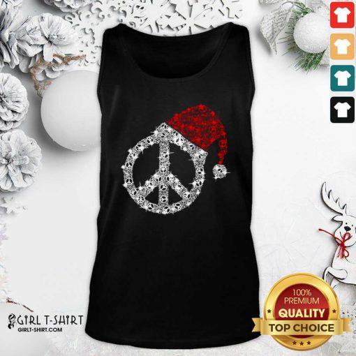Hippie Diamond Hat Merry Christmas Tank Top - Design By Girltshirt.com
