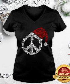 Hippie Diamond Hat Merry Christmas V-neck - Design By Girltshirt.com