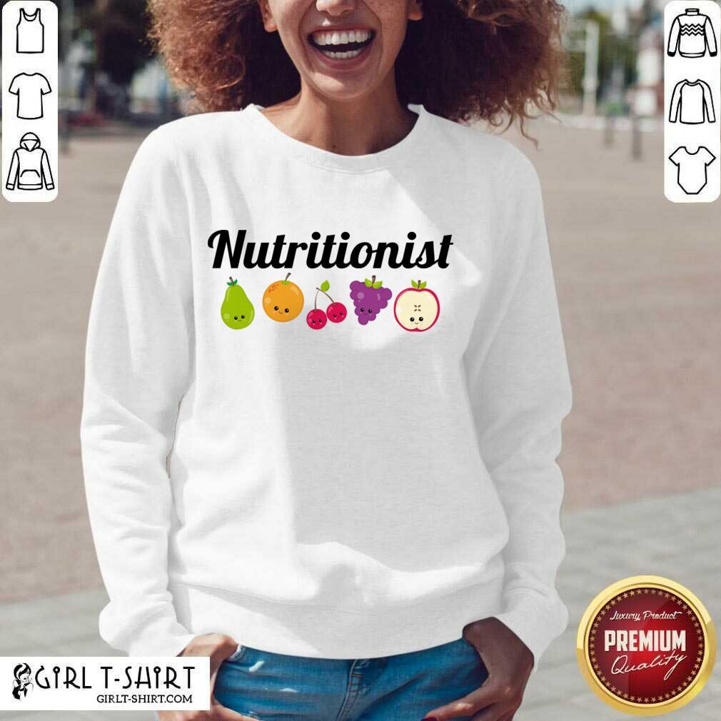 Nutritionist Nutrition Funny Fruit Gift V-neck- Design By Girltshirt.com