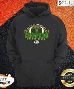 Oregon Ducks 2020 PAC-12 Football Champions Hoodie- Design By Girltshirt.com