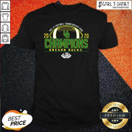 Oregon Ducks 2020 PAC-12 Football Champions shirt- Design By Girltshirt.com