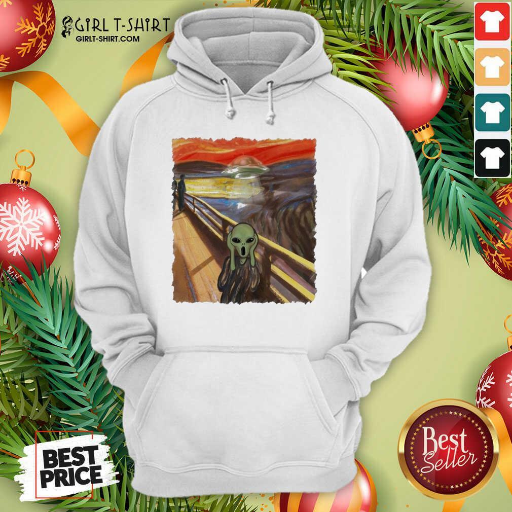 Premium Van Gogh Alien Hoodie- Design By Girltshirt.com