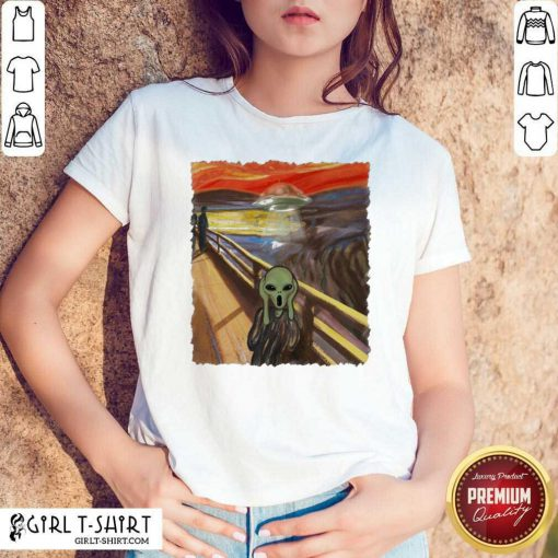 Premium Van Gogh Alien Shirt- Design By Girltshirt.com