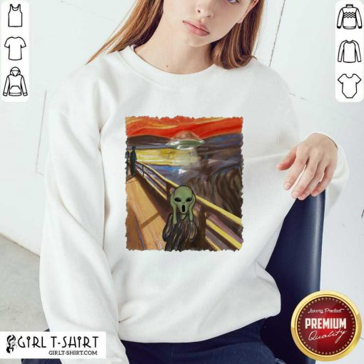 Premium Van Gogh Alien Sweatshirt - Design By Girltshirt.com