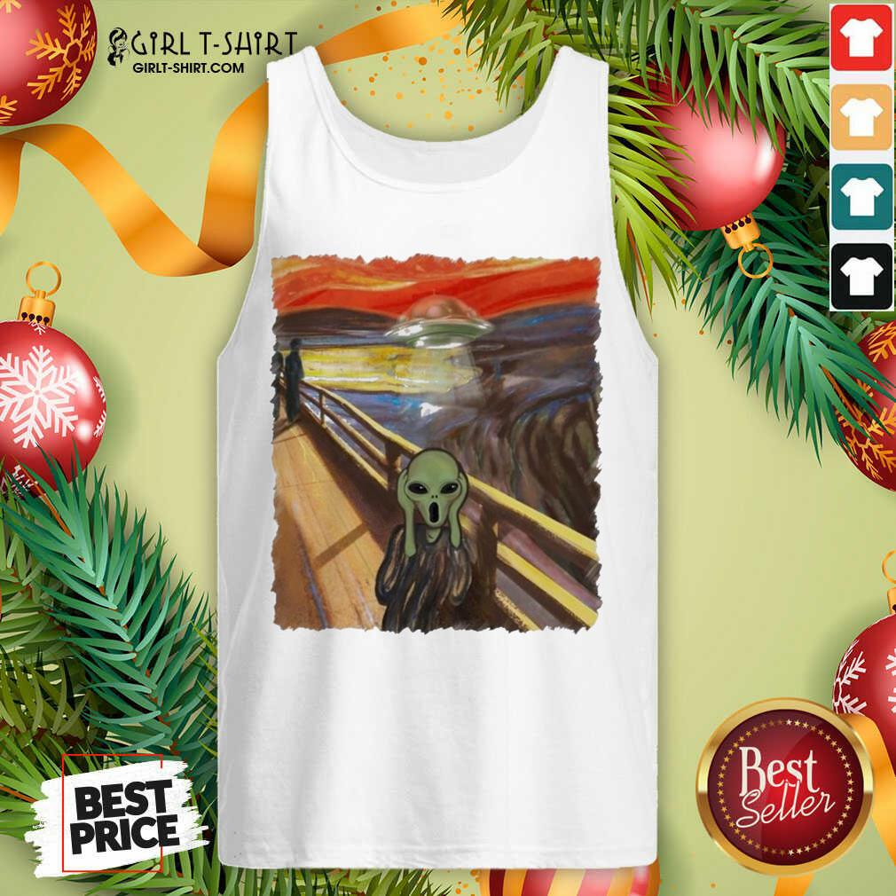 Premium Van Gogh Alien Tank Top - Design By Girltshirt.com