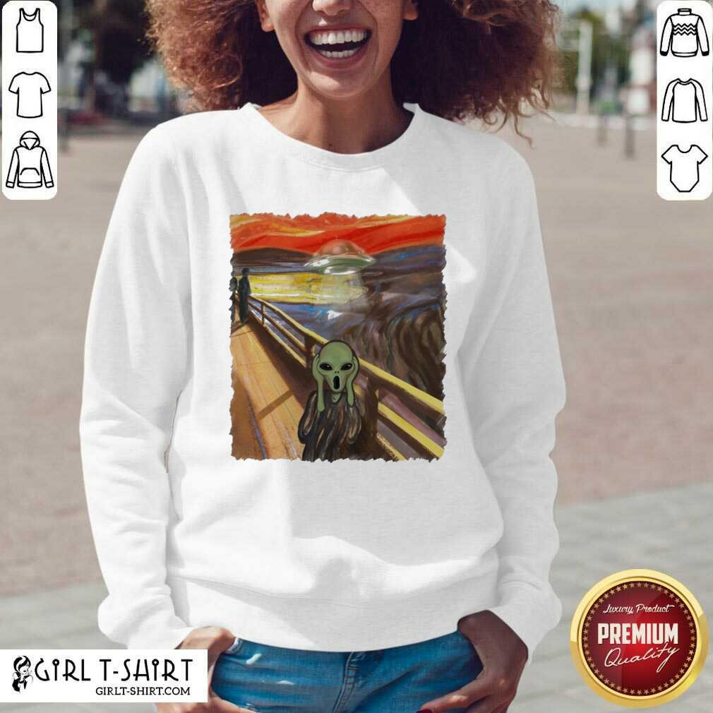 Premium Van Gogh Alien V-neck - Design By Girltshirt.com