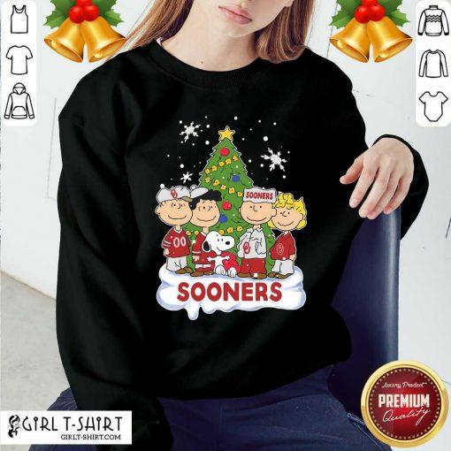 Snoopy The Peanuts Oklahoma Sooners Christmas Sweatshirt - Design By Girltshirt.com