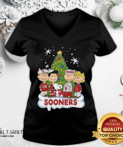 Snoopy The Peanuts Oklahoma Sooners Christmas V-neck - Design By Girltshirt.com