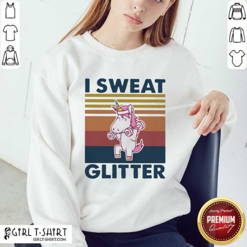 Unicorn I Sweat Glitter Vintage Sweatshirt - Design By Girltshirt.com