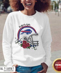 Buffalo Bills Floral V-neck- Design By Girltshirt.com