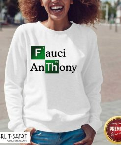 Fauci Anthony We Trust In Science Chemistry Wear A Mask Not Morons V-neck- Design By Girltshirt.com