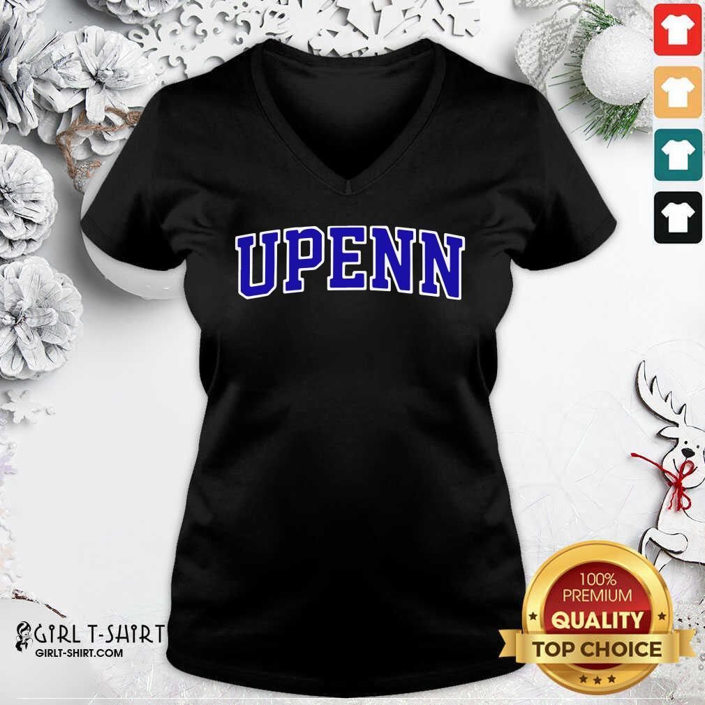 University Of Upenn V-neck- Design By Girltshirt.com