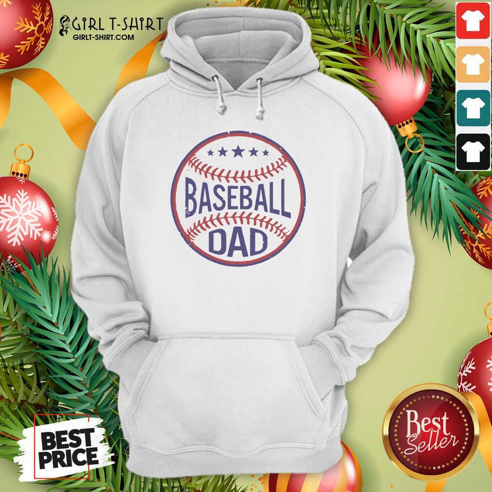 Baseball Dad Player Son Fathers Day Husband Daddy Grandpa Hoodie- Design By Girltshirt.com