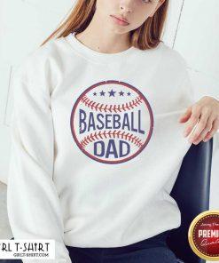 Baseball Dad Player Son Fathers Day Husband Daddy Grandpa Sweatshirt - Design By Girltshirt.com