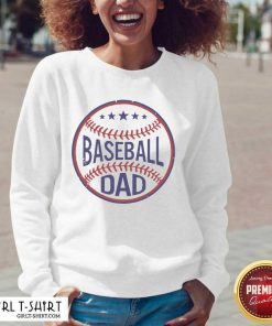 Baseball Dad Player Son Fathers Day Husband Daddy Grandpa V-neck- Design By Girltshirt.com