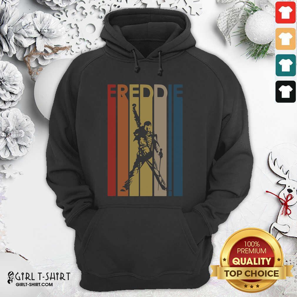 Freddie Mercury Vintage Hoodie- Design By Girltshirt.com