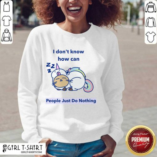 How can People Just Do Nothing V-neck- Design By Girltshirt.com