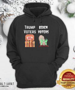 Trump Voters Against Biden Voters Hoodie - Design By Girltshirt.com