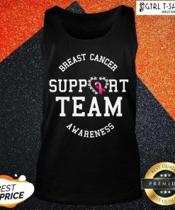 Breast Cancer Support Team Awareness Ribbon Pink Tank Top- Design By Girltshirt.com