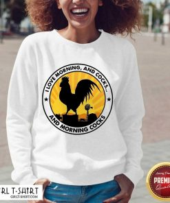 Chicken I Love Morning And Cocks And Morning Cocks V-neck - Design By Girltshirt.com
