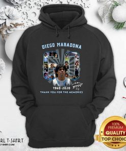 Diego Maradona 60 Years 1960 2020 Thank You For The Memories Hoodie - Design By Girltshirt.com