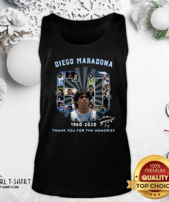 Diego Maradona 60 Years 1960 2020 Thank You For The Memories Tank Top - Design By Girltshirt.com
