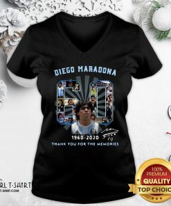Diego Maradona 60 Years 1960 2020 Thank You For The Memories V-neck - Design By Girltshirt.com