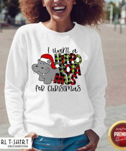 I Want A Hippopotamus For Christmas V-neck - Design By Girltshirt.com