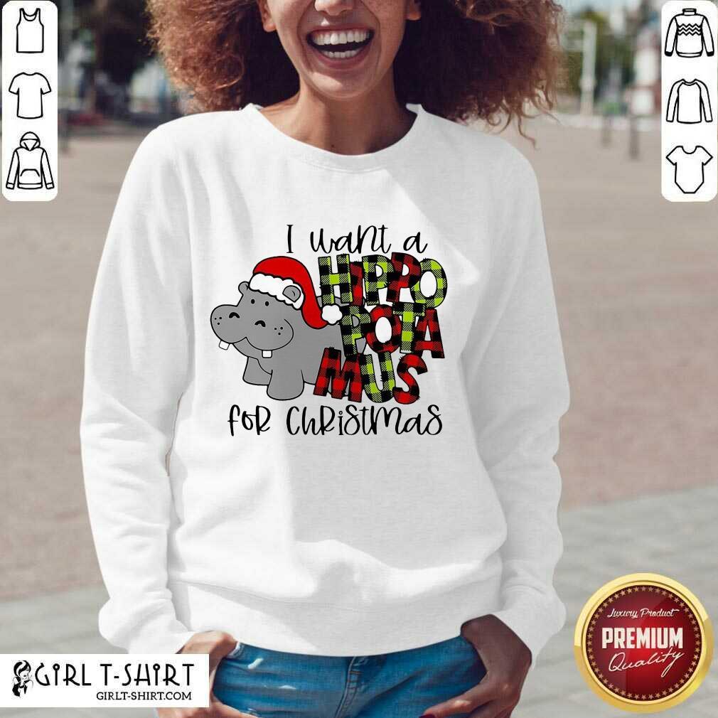 I Want A Hippopotamus For Christmas V-neck - Design By Girltshirt.com