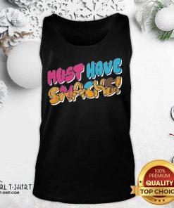 Happy Morejstu Merch Jstu Must Have Snacks Tank Top - Design By Girltshirt.com