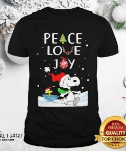 Snoopy Peace Love Joy Christmas Shirt - Design By Girltshirt.com