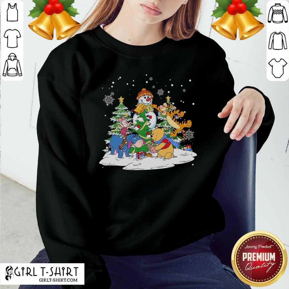 Snowman Bear And Friends Christmas Sweatshirt - Design By Girltshirt.com