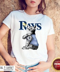 Tattoo Cat I Love Tampa Bay Rays Shirt - Design By Girltshirt.com