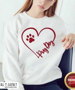 Cute Pug Dog Valentinsgift Valentines Day Mom Sweatshirt- Design By Girltshirt.com