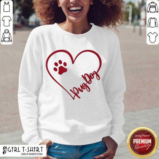 Cute Pug Dog Valentinsgift Valentines Day Mom V-neck - Design By Girltshirt.com