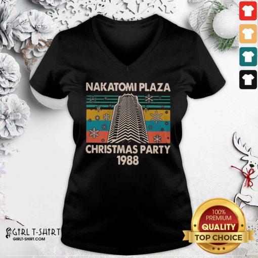 Nakatomi Plaza Christmas Party 1988 Vintage V-neck - Design By Girltshirt.com