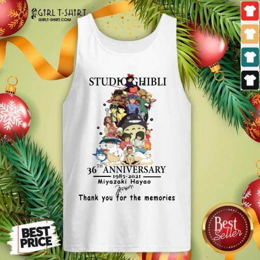 Studio Ghibli 36th Anniversary Thank You For The Memories Signatures Tank Top - Design By Girltshirt.com