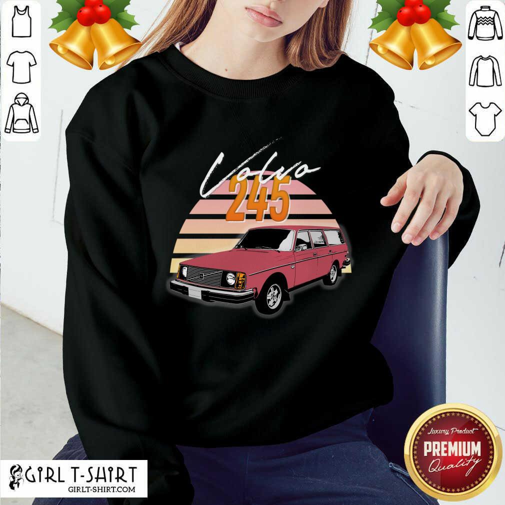 Volvo 240 245 Retro Wagon Design Sweatshirt- Design By Girltshirt.com