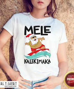 Mele Kalikimaka Hawaiian Christmas Hawaii Surfing Santa Shirt - Design By Girltshirt.com