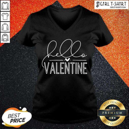 Valentine 2021 V-neck- Design By Girltshirt.com