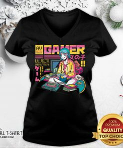 Yes Im A Gamer Girl Try To Keep V-neck- Design By Girltshirt.com