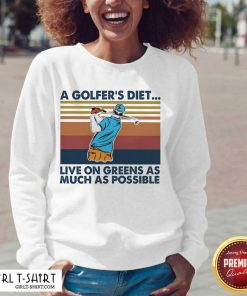 A Golfers Diet Live On Greens As Much As Possible Vintage V-neck- Design By Girltshirt.com